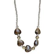 "Lova Jewellery ""Smoky Hearts"" Hand-Blown Venetian Murano Glass Necklace"