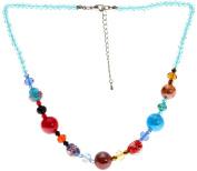 "Lova Jewellery ""Sugar Girl"" Hand-blown Venetian Murano Glass Necklace"