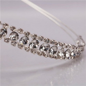 Shining Decent Two Rows Rhinestone Crown Headband Wedding Princess Headband