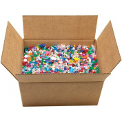 Cousin 31674 Mixed Plastic Beads, Assorted, 10-Pound