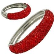 Red Bangle Crystal Bracelet