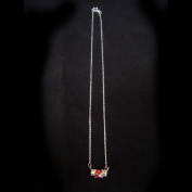 Ruby / Champaign Silver CZ Necklace