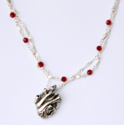 Crystal Anatomical Heart Necklace