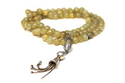 GREEN OYNX TASBIH. 99 BEADS. ANTIQUE STYLE. Handcrafted from Semi Precious Gem Stones.