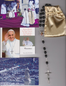 Saint Alphonsus Liguori Relic Rosary Blessed by Pope Francis on 3/19/2013 at Inauguration Mass Patron of Arthritis Black Wooden Beads
