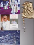Venerable Matt Talbot Relic Rosary Blessed by Pope Francis on 3/19/2013 at Inauguration Mass Patron of Alcoholism 50cm Beige Wooden Beads