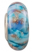 Fenton Art Glass Northern Lights Bead - Handmade Lampwork Glass USA Made Williamstown, West Virginia