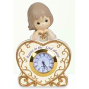 114415 - PWP Girl With Heart Shaped Clock - Precious Moments