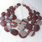 """Noreena Jasper 16"""" Strand of 24x28 to 32x44mm Free Form, Graduated, and Knotted Slabs"""