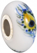 Fenton Art Glass Eye of the Peacock - Handmade Lampwork Glass USA Made Williamstown, West Virginia
