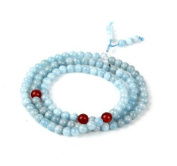 The Art of CureTM (70cm ) Healing Jewellery & Mala meditation beads (108 beads on a strand) Aquamarine