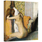 Art Wall 'After The Bath, Woman Drying Her Neck' Gallery-Wrapped Canvas Artwork by Edgar Degas, 36cm by 36cm