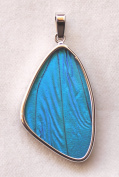 Blue Morpho Butterfly Large Wing Pendant