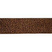 Vickerman 78030cm - 10cm x 10yd Brown Leopard Velvet Ribbon