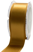 May Arts 3.8cm Wide Ribbon, Gold Satin