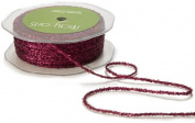 May Arts Ribbon, Burgundy Metallic String