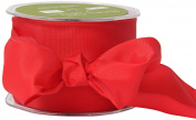 May Arts 6.4cm Wide Ribbon, Red Solid