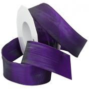 Morex Ribbon French Wired Lyon Ribbon, 3.8cm by 27-Yard Spool, Iridescent Purple