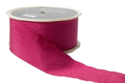 May Arts 3.8cm Wide Ribbon, Fuchsia Solid