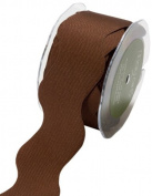 May Arts 3.8cm Wide Ribbon, Brown Ric Rac