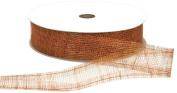Offray Lions Web Mesh Craft Ribbon, 3.8cm Wide by 50-Yard Spool, Terra