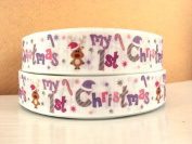 5 yards 2.5cm My First Christmas Grosgrain Ribbon