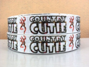 5 yards 7/8 Country Cutie Browning Grosgrain Ribbon