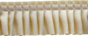 Pleated Trim Gathered Pleated Grosgrain Ribbon Roll, Cream, 25-Yard