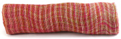Kel-Toy Mixed Colour Jute Burlap Ribbon Roll, 46cm by 10-Yard, Rose/Fuchsia/Pink