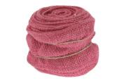 Renaissance 2000 Ribbon, 10cm , Pink Burlap with Wire