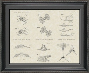 Star Wars Vehicles Patent Art Wall Hanging 20x24 | Fun Jedi Gift
