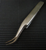 Stainless Steel Curved Needle Point Tweezers