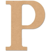 MDF Classic Font Wood Letters & Numbers 24cm -Letter P