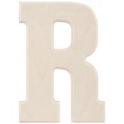 Baltic Birch University Font Letters & Numbers 13cm -Letter R