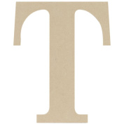 MDF Classic Font Wood Letters & Numbers 24cm -Letter T