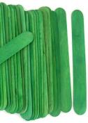 100 Wood Jumbo Craft Sticks Green Colour