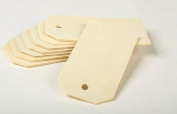 7.6cm - 0.6cm X 2.5cm - 1.6cm Ready to Decorate Unfinished Wood Tags - Package of 48 Blank Wooden Tags for Wine, Decor, Weddings