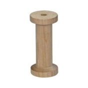 5 Unfinished Wood Spools with a Vintage Retro Thread Spool Look! 7cm High