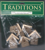 TRADITIONS MINI BIRDHOUSE VALUE PACK (5 DIFFERENT STYLES) 3.8cm TO 5.7cm HIGH X APPROX 2.5cm