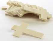 Wooden Unfinished 11cm High Cross - Package of 25 Crosses