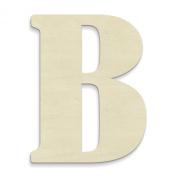 UNFINISHEDWOODCO Unfinished Wood Letter, 38cm , Monogrammed B, Large