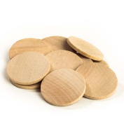 Package of 100 3.8cm Round Disc Unfinished Wood Cutouts - Ready to Be Painted and Decorated