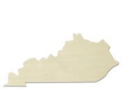 """UNFINISHEDWOODCO Unfinished State Wood Cutouts, """"Kentucky"""""""