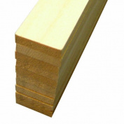 Midwest Products 4106 Micro-Cut Quality Basswood Sheet Bundle, 0.25x 1Inches x 60cm