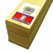 Midwest Products 4117 Micro-Cut Quality Basswood Sheet Bundle, 0.5x 2Inches x 60cm