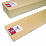 Midwest Products 4406 Micro-Cut Quality Basswood Sheet Bundle, 0.25x 4Inches x 60cm