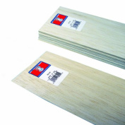 Midwest Products 6401 Micro-Cut Quality Balsa 90cm Sheet Bundle, 0.08cm x 10cm