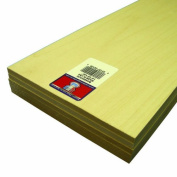Midwest Products 4129 Micro-Cut Quality Basswood Sheet Bundle, 0.25x 6Inches x 60cm
