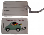 Powered By Fabric Luggage Tag FF705