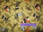 110cm Wide Duck Dynasty Faces Cotton Fabric BY THE HALF YARD